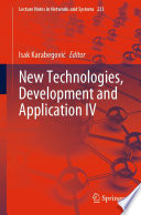 New Technologies, Development and Application IV