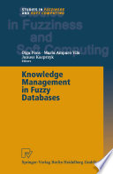 Knowledge Management In Fuzzy Databases Book PDF