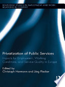 Privatization of Public Services