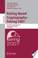 Pairing Based Cryptography Pairing 2007