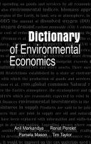 Dictionary of Environmental Economics