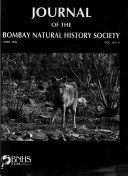 Journal Of The Bombay Natural History Society Book PDF