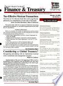 International Finance & Treasury