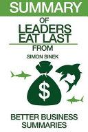 Summary of Leaders Eat Last Book