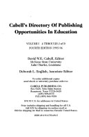 Cabell S Directory Of Publishing Opportunities In Education