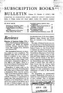 Subscription Books Bulletin