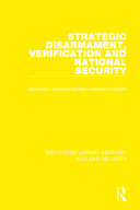 Pdf Strategic Disarmament, Verification and National Security Telecharger