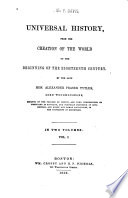 Universal History  from the Creation of the World to the Beginning of the Eighteenth Century Book PDF