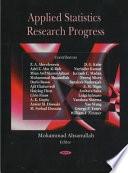 Applied Statistics Research Progress