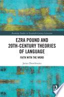 Ezra Pound And 20th Century Theories Of Language