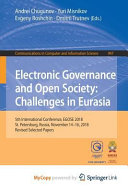 Electronic Governance And Open Society