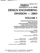 Proceedings of the ASME Design Engineering Division  2003