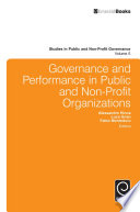 Governance and Performance in Public and Non Profit Organizations