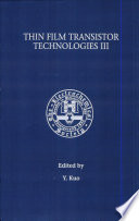 Proceedings of the Third Symposium on Thin Film Transistor Technologies Book