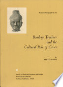 Bombay Teachers and the Cultural Role of Cities