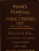 Poor s Manual of Public Utilities