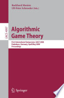 Algorithmic Game Theory Book