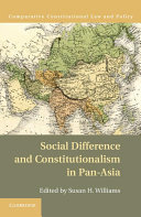 Social Difference and Constitutionalism in Pan Asia