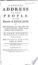 A serious address to the people of the Church of England ... To which are added some passages of his life written by himself. Fifth edition