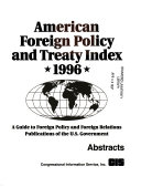 American Foreign Policy And Treaty Index