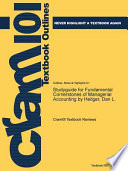 Studyguide for Fundamental Cornerstones of Managerial Accounting by Heitger, Dan L.