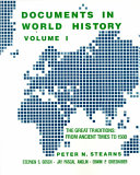 Documents in World History  The great traditions  from ancient times to 1500 Book PDF