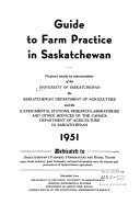 Guide to Farm Practice in Saskatchewan Book