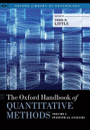 The Oxford Handbook of Quantitative Methods  Vol  2  Statistical Analysis