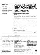 Journal of the Society of Environmental Engineers