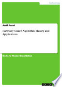 HARMONY SEARCH ALGORITHM  THEORY AND APPLICATIONS Book