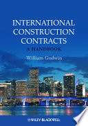 Book Cover: International construction contracts: a handbook with commentary on the FIDIC design-build forms