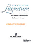 Holt Elements of Literature Indiana