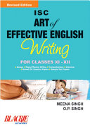 Pdf ISC Art Of Effective English Writing Class XI And XII