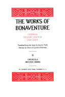 The Works of Bonaventure  Opuscula  second series Book PDF