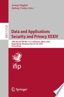 Data and Applications Security and Privacy XXXIV Book