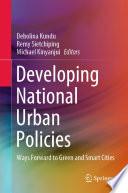 Developing National Urban Policies Book PDF