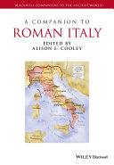 Pdf A Companion to Roman Italy Telecharger
