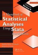 Handbook of Statistical Analyses Using Stata  Fourth Edition