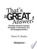 That s a GREAT Answer  Book