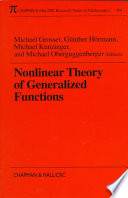 Nonlinear Theory of Generalized Functions