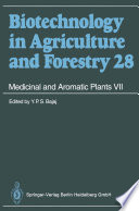 Medicinal and Aromatic Plants VII Book