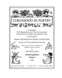 Childhood in Poetry  Second Supplement  Bibliography