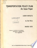 Transportation Policy Plan Woods S W Transportation Emergency Situations