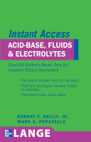 Cover of LANGE Instant Access Acid-Base, Fluids, and Electrolytes
