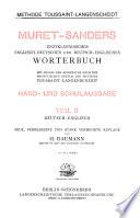 Deutsch-englisch, neue, verb. und stark verm. aufl. von H. Baumann. 71.-98. tausend
