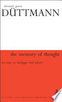The Memory of Thought Book