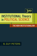 Institutional Theory in Political Science