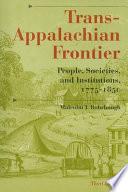 Trans Appalachian Frontier Book