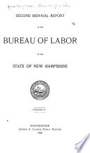Biennial Report of the Bureau of Labor of the State of New Hampshire