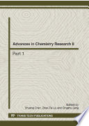 Advances in Chemistry Research II Book
